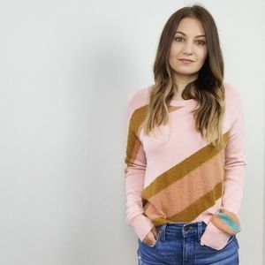 Anthropologie Pink Stripe Sweater